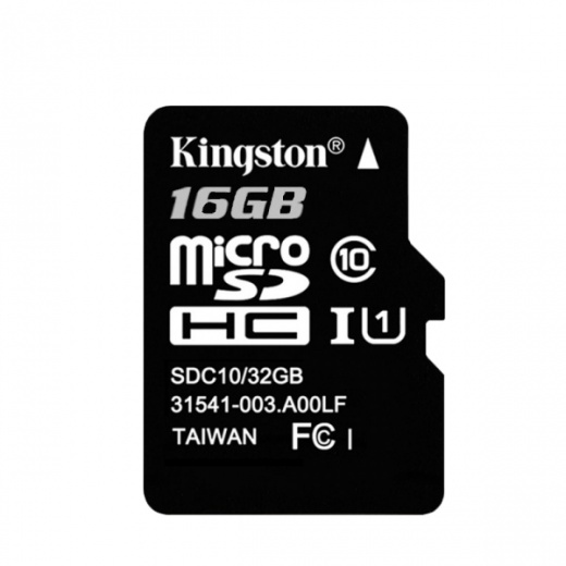 16Gb Kingston карта micro SD (без адаптера) Class10